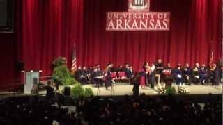 アーカンソー大学・卒業式 2012
