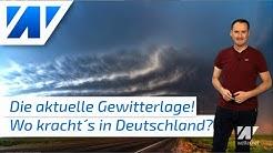 Aktuelle Gewitter- und Unwetterwarnung (26.6.2020) für Freitag und Samstag! Hier wird´s gefährlich!