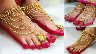 New Bridal Pearl Anklets making at home|| DIY Bridal Payal making