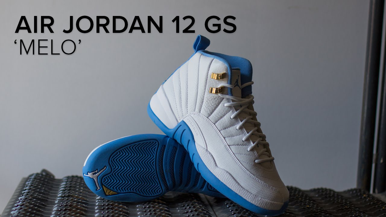 3372e5a3cfa704 Air Jordan 12 GS  Melo  Quick Look - YouTube