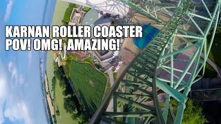 OMG! Karnan Roller Coaster POV! AMAZING!!! Hansa Park Germany 2016