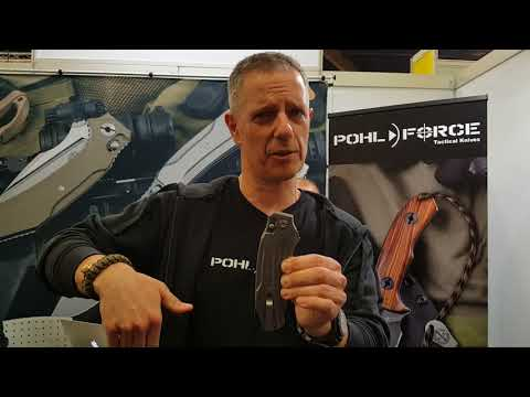 POHL FORCE new knives with Dietmar Paul. IWA 2018