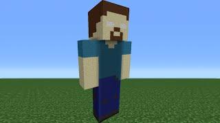 Minecraft Tutorial: How To Make A Herobrine Statue
