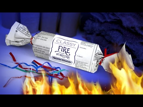 DIY Fire Starters - Dryer Lint and Toilet Paper Roll Tubes