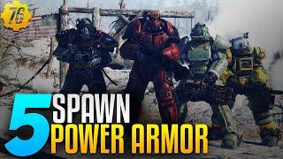 Fallout 76 - 5 punti di spawn di power armor all'inizio del gioco