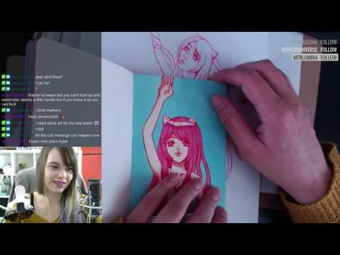 Awkward Twitch Art Stream (๑╹∀╹๑) Lucy painting Part 1