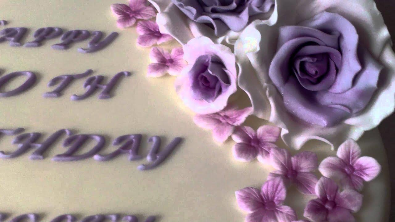 Rose 80th Birthday Cake Youtube