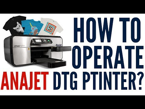 How to Operate a Direct to Garment Printer - Anajet DTG Printer