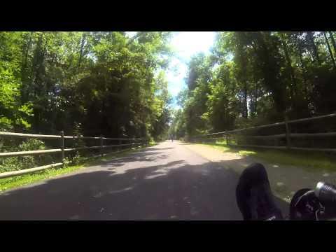 Dutchess Rail Trail Southbound 8/17/2014
