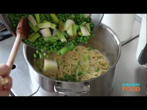 Pasta With Leeks, Peas, And Prosciutto | Everyday Food With Sarah Carey