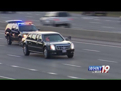 Watch President Trump's Motorcade Drive Through Huntsville Alabama