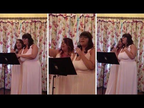 Bridesmaids Create Amazing Wedding Speech From Disney Songs