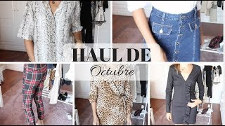 TRY ON HAUL OCTUBRE | ZARA MANGO H&M PULL&BEAR   Marilyn's Closet