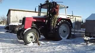 Испытание отопителя(печки) в тракторе  мтз (Рубин 303)