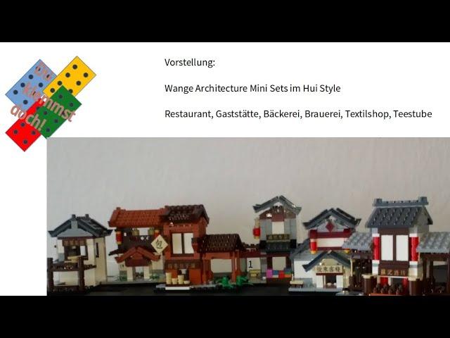 WANGE Mini Architectur Sets - Restaurant, Teehaus, Brauerei, Gaststätte, Bäckerei und Textil Shop