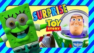 Surprise! Buzz Lightyear And Spongebob Toys Hidden In Rice, Fun Clips For Kids A Real Toy Surprise