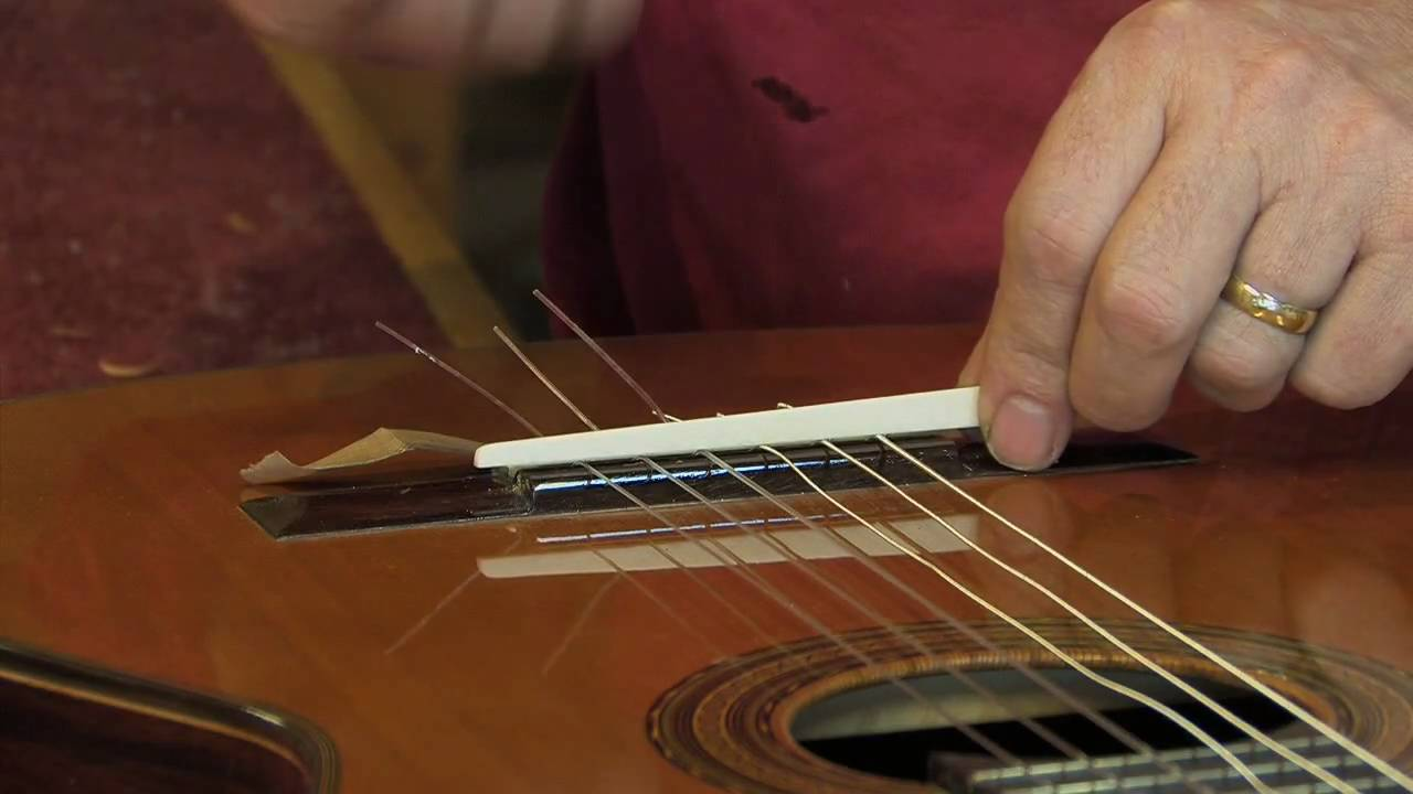 Adjustable Saddle For Classical Guitar Youtube