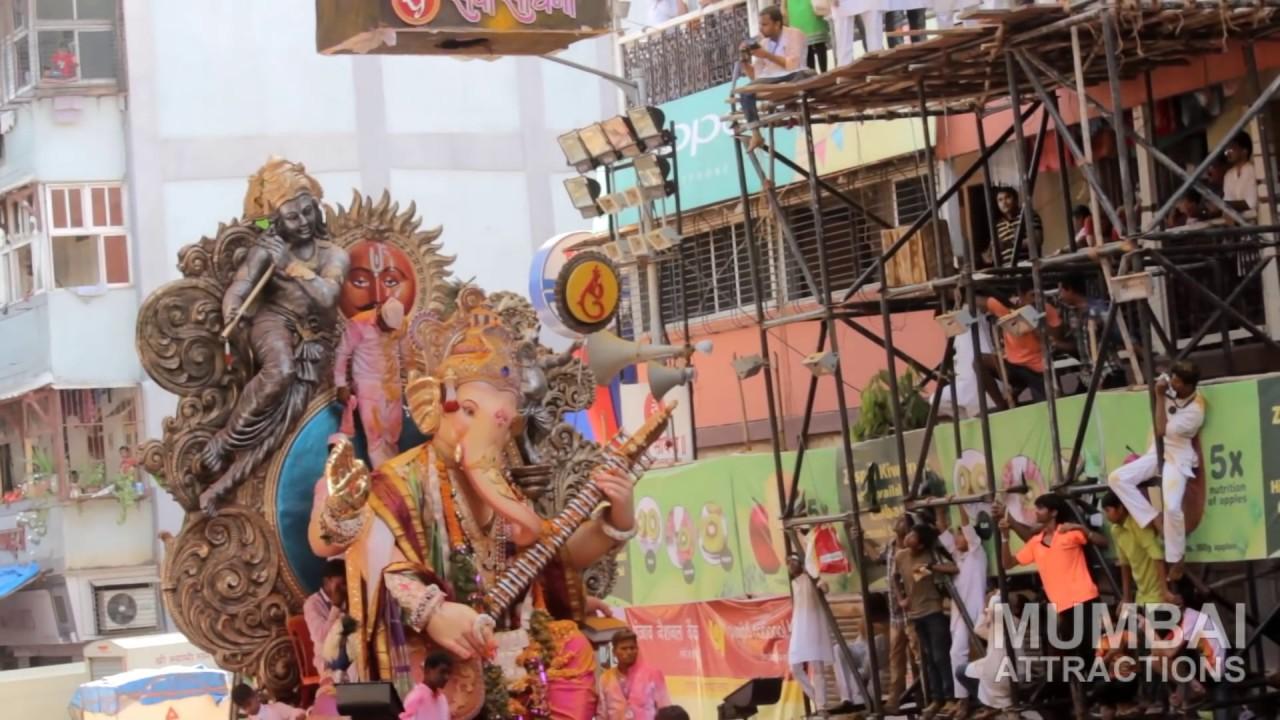 Mumbai Ganesh Chaturthi 2015 : Visarjan at Girgaum Chowpatty, Mumbai - YouTube
