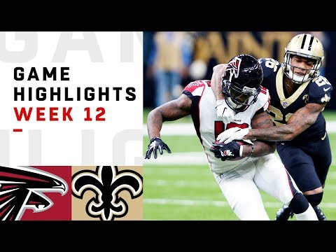 Falcons vs. Saints Week 12 Highlights | NFL 2018