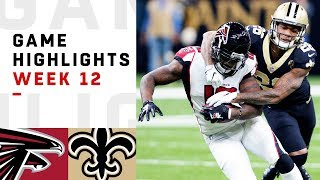 The Atlanta Falcons take on the New Orleans Saints during Week 12 of the 2018 NFL season.  Subscribe to NFL: http://j.mp/1L0bVBu  Check out our other channels: NFL Vault http://www.youtube.com/nflvault NFL Network http://www.youtube.com/nflnetwork NFL Films http://www.youtube.com/nflfilms NFL Rush http://www.youtube.com/nflrush  #NFL #Falcons #Saints