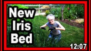 New Iris Bed  - Wisconsin Garden Video Blog 706
