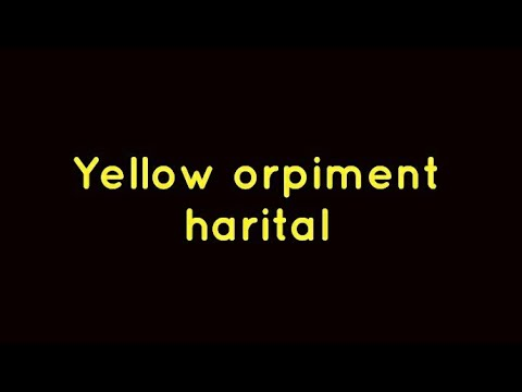 Download Harital (yellow orpiment) and hair removal