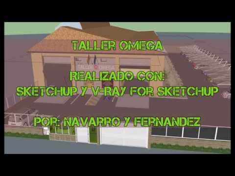 Taller OMEGA, Diseñado con  Sketchup y V-Ray (Navarro y Fernandez)