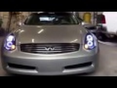 04 Infiniti G35 Coupe Custom Headlights Youtube