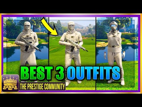 """BEST """"ALL WHITE"""" RNG MODDED OUTFITS GTA 5 1.40! 3 *MUST HAVE* White Modded Outfit Clothing Glitches!"""