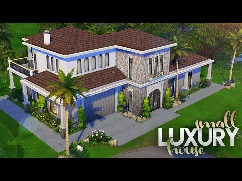 ONLY GET FAMOUS +  BASE GAME BUILD | Small Luxury House | The Sims 4 Speed Build