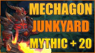 Mechagon Junkyard +20: 481 Arms Warrior (115k DPS) - WoW BFA 8.3 Mythic+