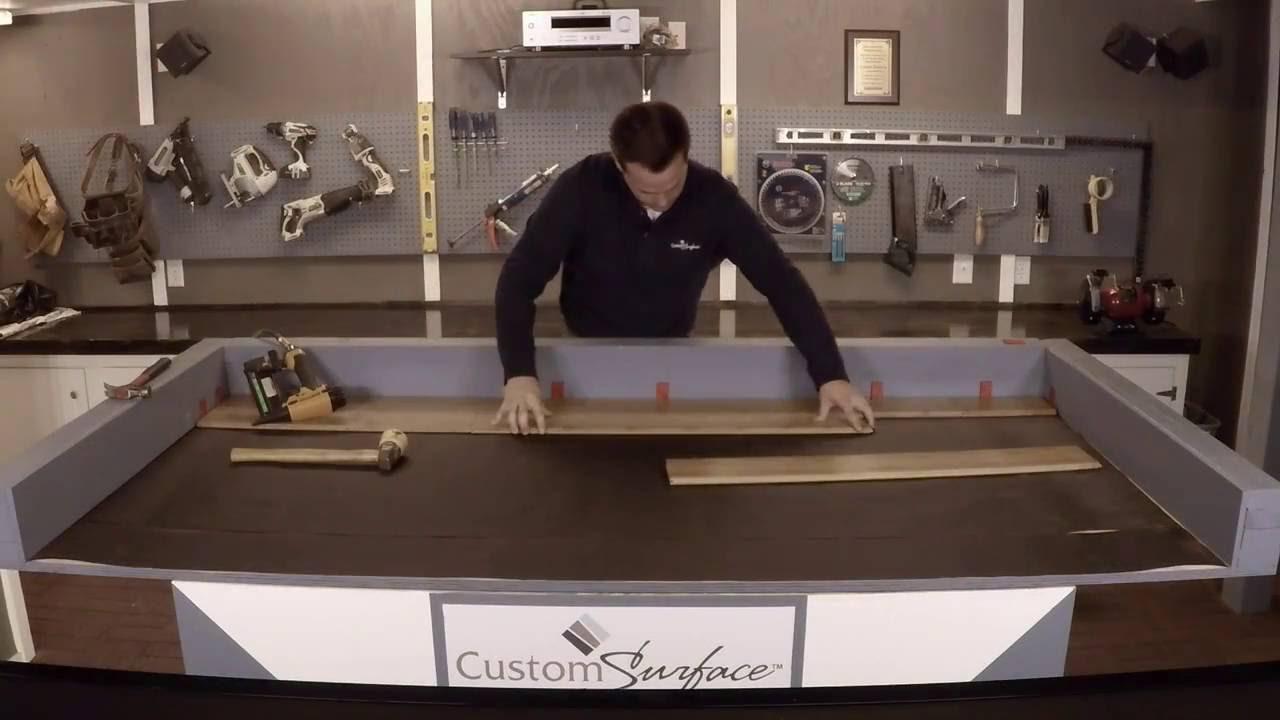 Nail Down Bamboo Flooring Install Youtube