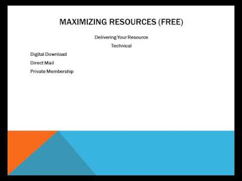 Maximizing Information Resources For Profit - Video 11 - How To Deliver