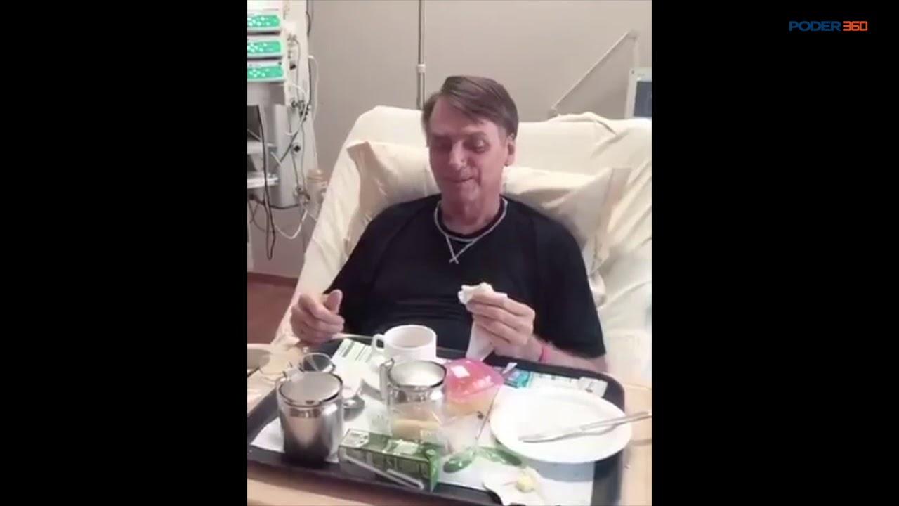 Eduardo Bolsonaro divulga vídeo que mostra Bolsonaro comendo pão e tomando café - 25.set.2018