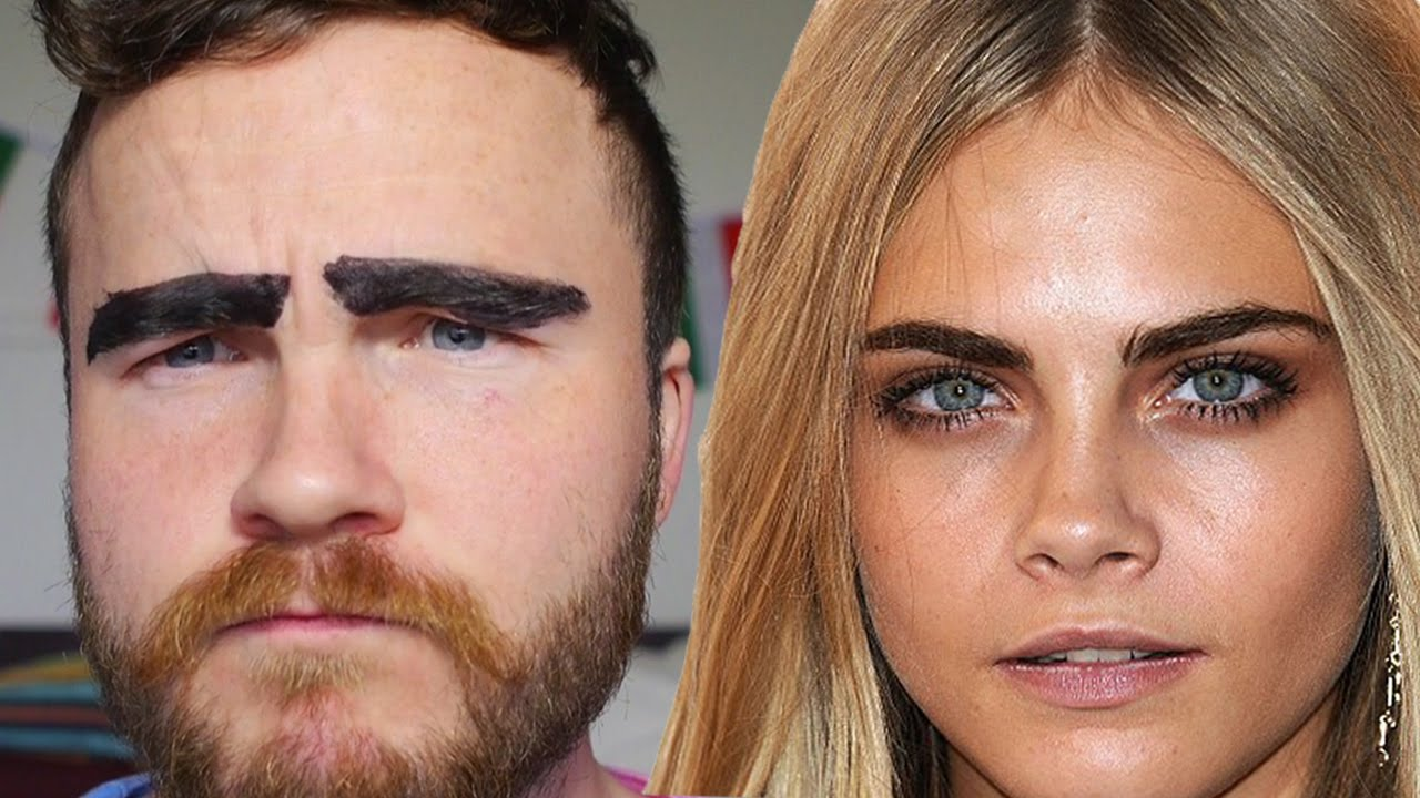 How To Get Cara Delevingne Eyebrows Youtube