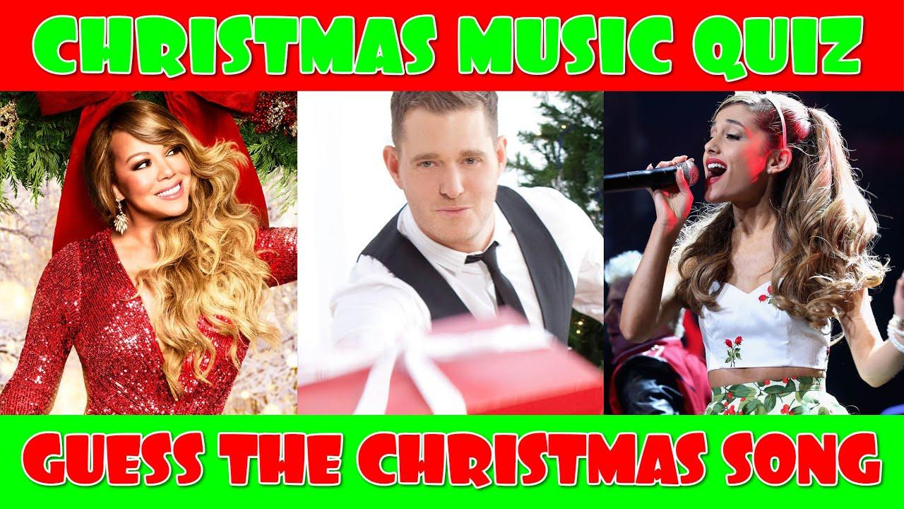 Christmas Music Quiz Guess The Christmas Song Christmas Songs Trivia Youtube