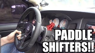 CUMMINS PADDLE SHIFTER INSTALL COMPLETE!! & TEST DRIVE!!!