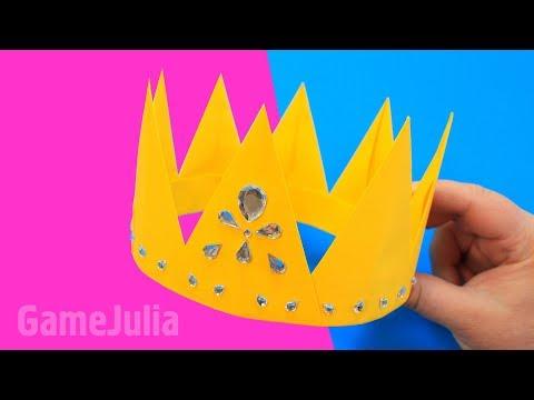 Оригами Корона на выпускной