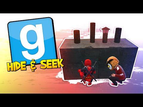 GMOD Hide & Seek - DOGPOOL SEEKER! (Garry's Mod)