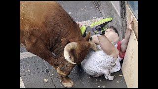 Dangerous Bull Fight Accidents Compilation Lucky and Funny People Fail Video Clips part 2