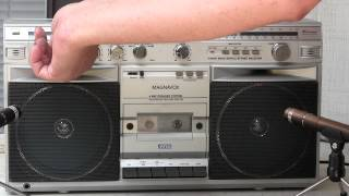 Magnavox D 8523 Boombox Powerplay Machine Identical to Philips D 8514 unboxed & Played