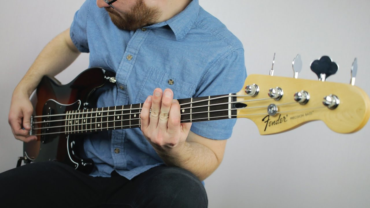 mim fender standard p bass demo youtube