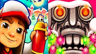 Temple Run 2 vs Subway Surfers Christmas Holiday Winter Run 2019