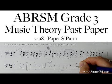 ABRSM Music Theory Grade 3 Past Paper 2018 S Part 1 With Sharon Bill
