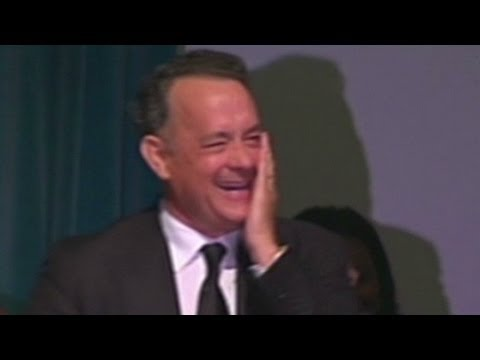 Tom Hanks cracks up memorial service