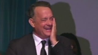 Tom Hanks cracks up memorial service thumbnail