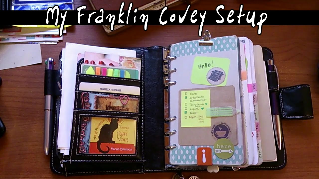 My planner setup 2015 from filofax to franklin covey for For planner