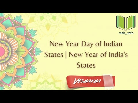 New Year Day of Indian States |  New Year of India's States