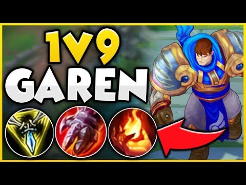 THE EASIEST WAY TO 1V9 CARRY WITH GAREN! (100% EASY WIN STRATEGY!) - League of Legends