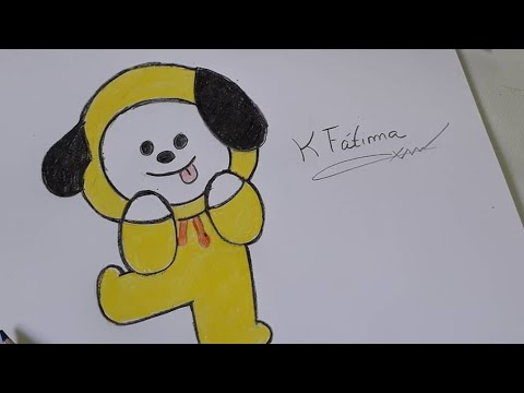 How to draw chimmy from BT21 (bts)🎨